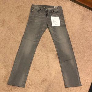 Diesel silver stretch slim jeans